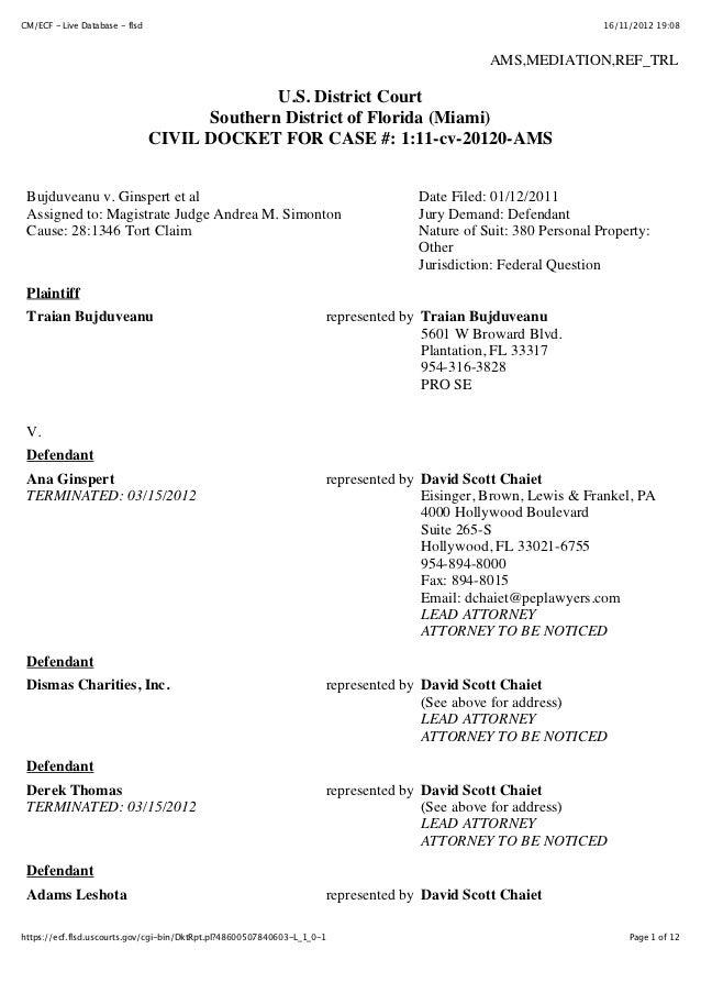 CM/ECF - Live Database - flsd                                                                                    16/11/201...