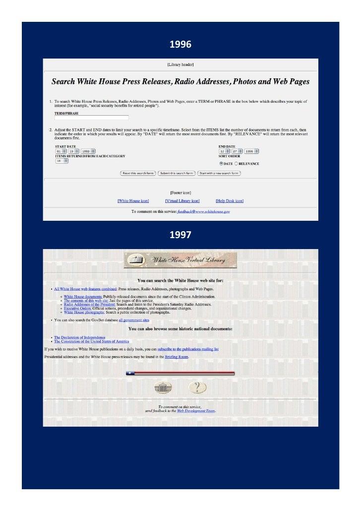 Le site internet de la maison blanche a 15 ans d j for Site de la maison