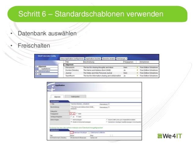 Schritt 6 – Standardschablonen verwenden• Datenbank auswählen• Freischalten  Mastertitelformat bearbeiten