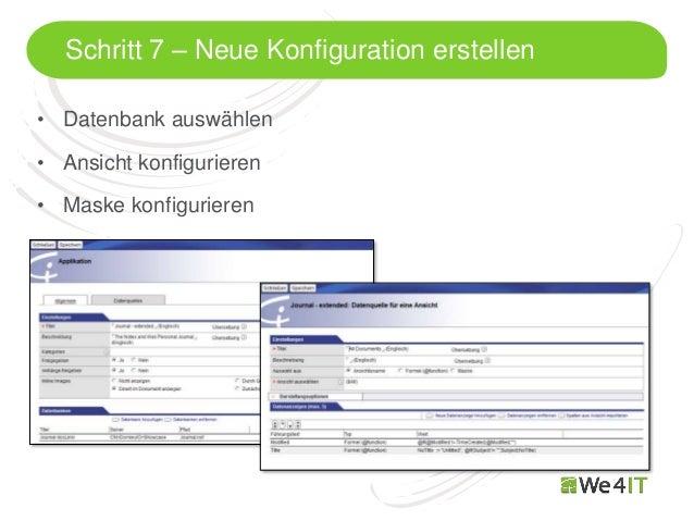 Schritt 7 – Neue Konfiguration erstellen• Datenbank auswählen• Ansicht konfigurieren• Maske konfigurieren  Mastertitelform...