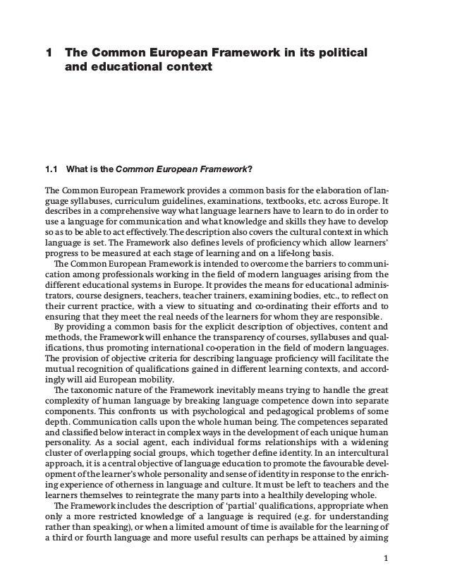 Common European Framework of Reference for Languages : Learning, Teaching, Assessment (CEFR) Slide 2