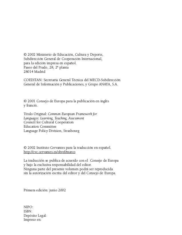 Marco común europeo de referencia para las lenguas: aprendizaje, enseñanza, evaluación (MCER) Slide 2