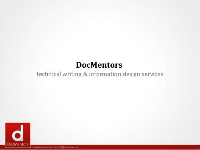 DocMentors technical writing & information design services