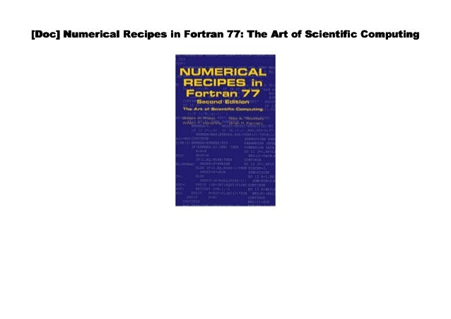 Txt Numerical Recipes In Fortran 77 The Art Of Scientific Computing