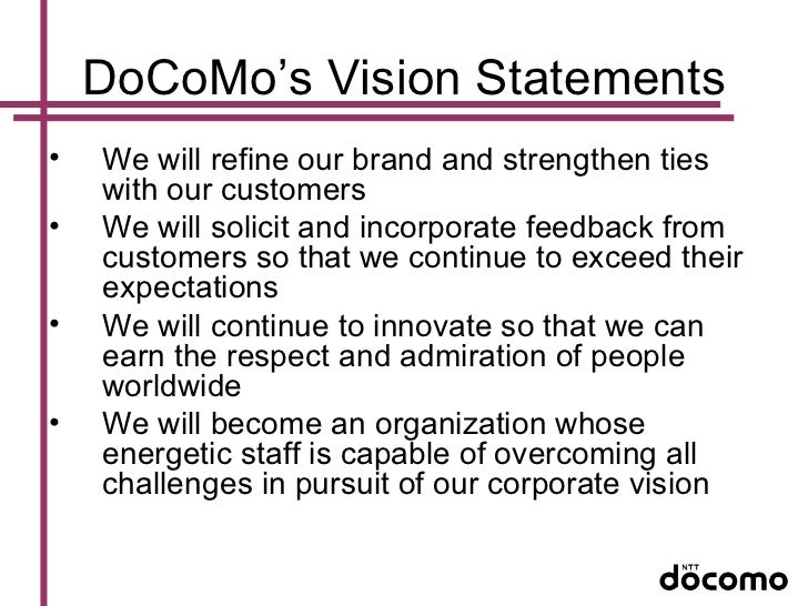 ntt docomo case study Home » ntt docomo (tm): value innovation at docomo ntt docomo (tm): value innovation at docomo hbs case analysis this entry was posted in harvard case study analysis solutions on by case solutions.