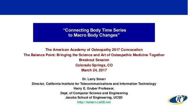 Connecting Body Time Series to Macro Body Changes