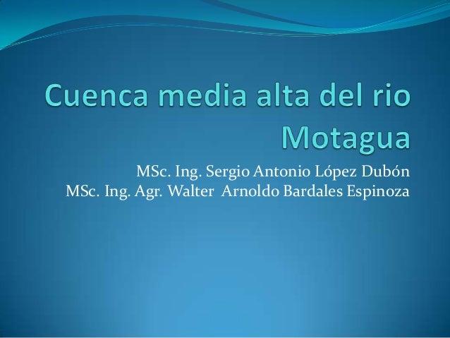 MSc. Ing. Sergio Antonio López DubónMSc. Ing. Agr. Walter Arnoldo Bardales Espinoza
