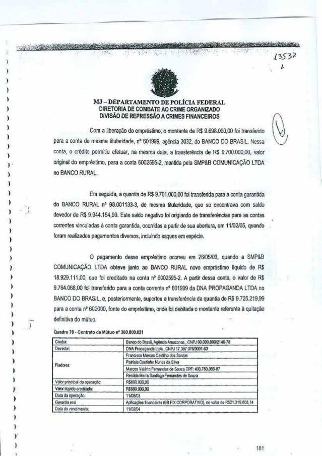 , I  fa  ,, I  MJ - DEPARTAMENTO DE POLiClA FEDERAL DIRETORIA DE COMBATEAO CRIME ORGANlZADO DIVISAO DE REPRESSAo ACRIMES F...