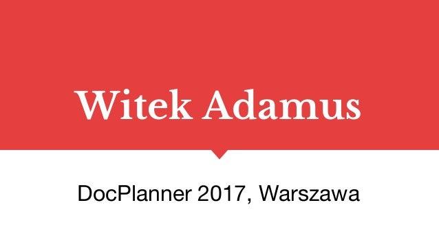 Witek Adamus DocPlanner 2017, Warszawa