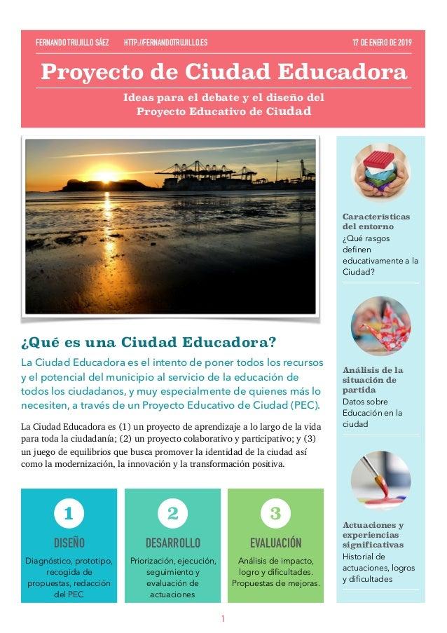 ¿Qué es una Ciudad Educadora? LaCiudad Educadoraes el intento de poner todos los recursos y el potencial del municipio a...