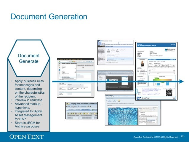 OpenText Confidential. ©2016 All Rights Reserved. 25 • Apply business rules for messages and content, depending on the cha...