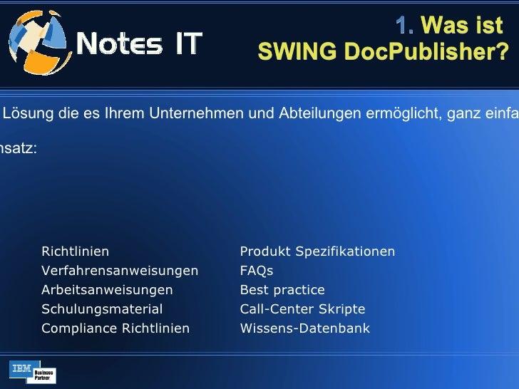 SWING DocPublisher   Kurzübersicht Slide 2