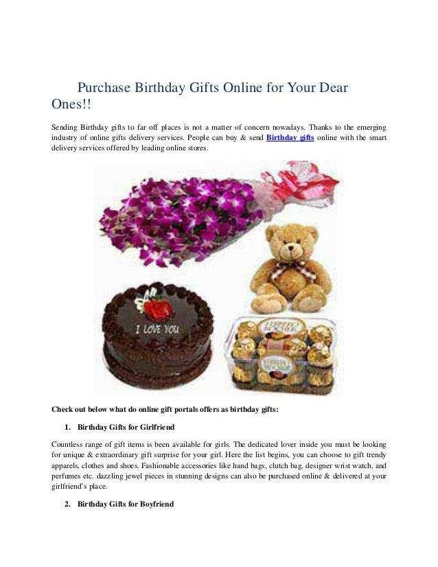 Purchase Birthday Gifts Online For Your Dear Ones