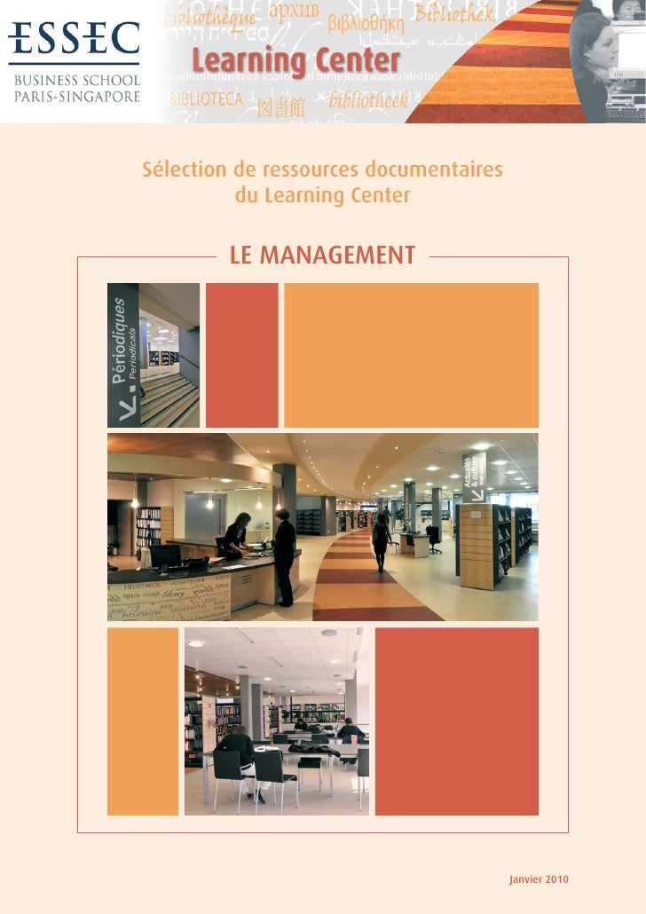 Sélection de ressources documentaires           du Learning Center          LE MANAGEMENT                                 ...
