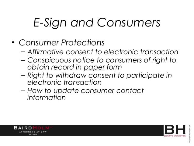 Electronic Signatures and Disclosures: Best Practices for E-SIGN Comp…