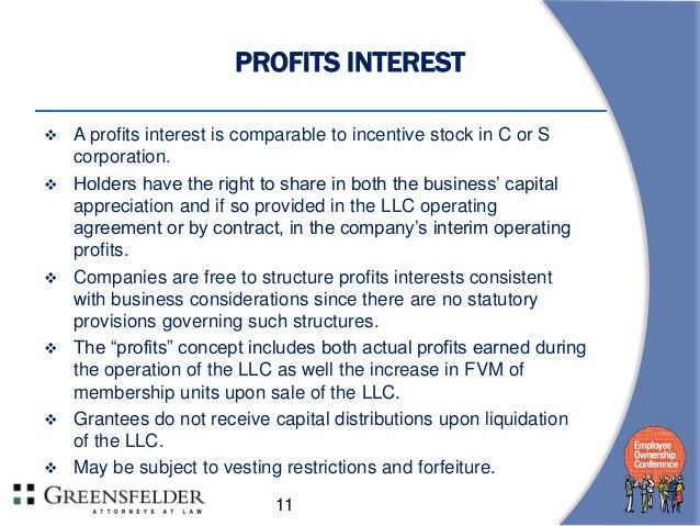Equity Incentives For Limited Liability Panies