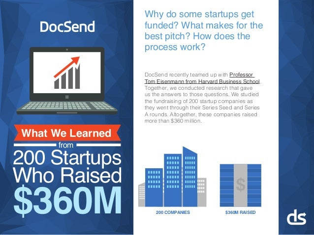 Why do some startups get funded? What makes for the best pitch? How does the process work? DocSend recently teamed up with...