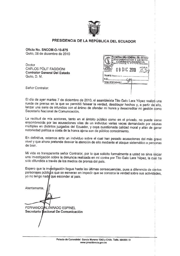 Documentos SECOM