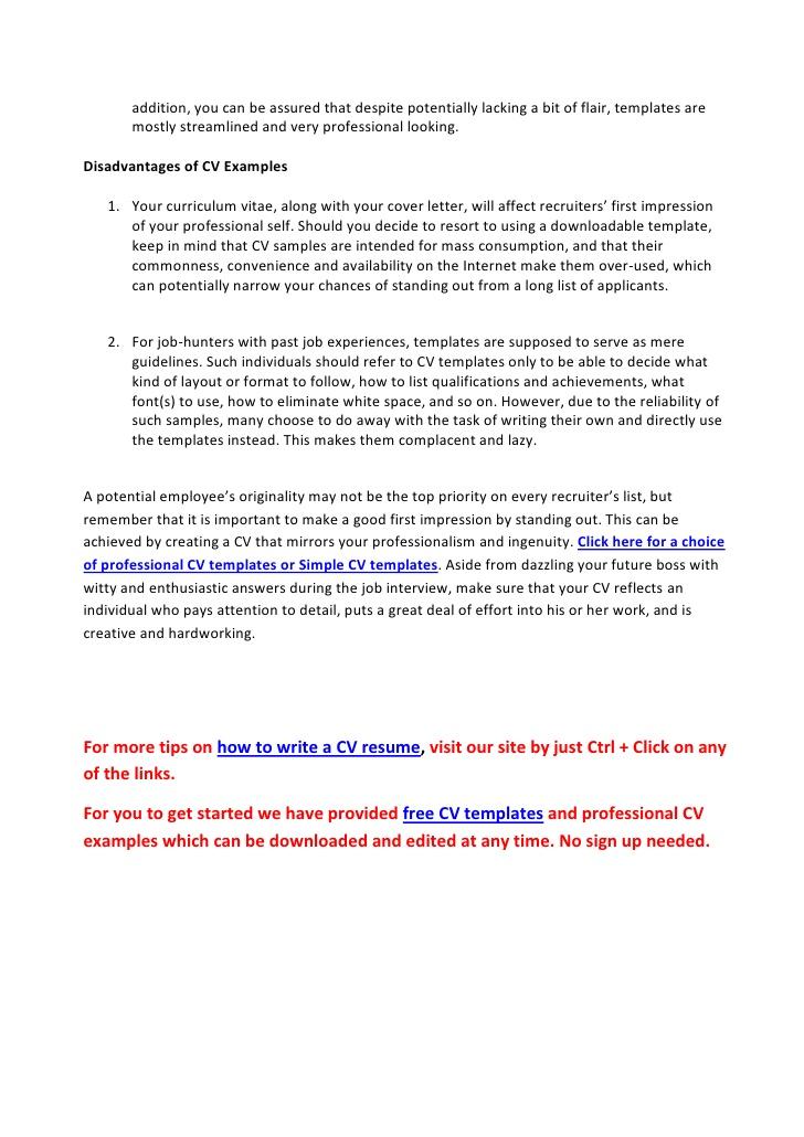 Help on resume writing
