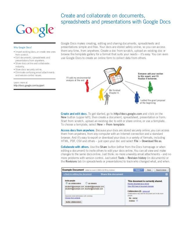 Google Docs - Start a new google doc