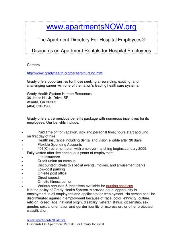 www.apartmentsNOW.org          The Apartment Directory For Hospital Employees       Discounts on Apartment Rentals for Ho...