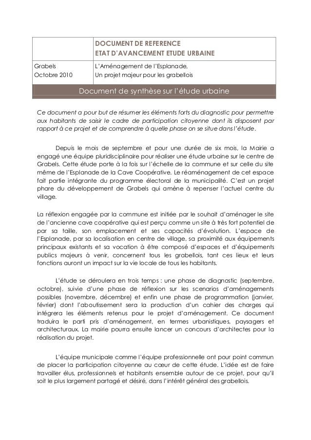 Ce document a pour but de résumer les éléments forts du diagnostic pour permettre aux habitants de saisir le cadre de part...