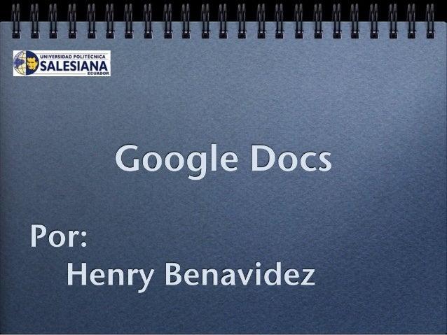 Docs  y spreadsheets