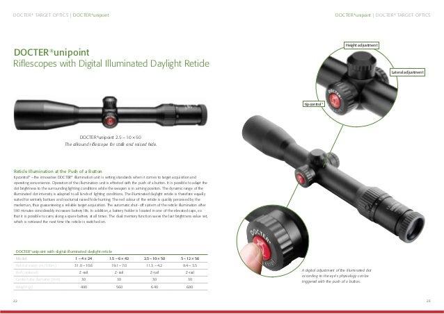 22 23 DOCTER® unipoint | DOCTER® TARGET OPTICSDOCTER® TARGET OPTICS | DOCTER® unipoint DOCTER® unipoint Riflescopes with Di...