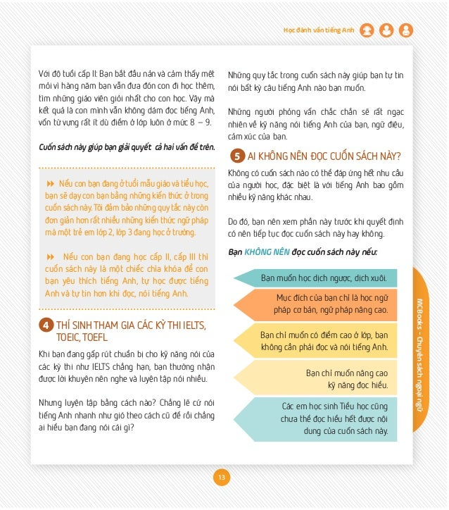 MCBooks-Chuyênsáchngoạingữ Học đánh vần tiếng Anh 13 Với độ tuổi cấp II: Bạn bắt đầu nản và cảm thấy mệt mỏi vì hàng năm b...