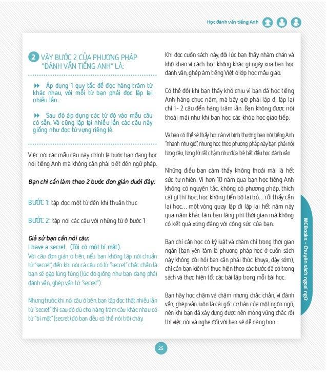 """MCBooks-Chuyênsáchngoạingữ Học đánh vần tiếng Anh 25 2 VẬY BƯỚC 2 CỦA PHƯƠNG PHÁP . """"ĐÁNH VẦN TIẾNG ANH"""" LÀ: 8 Áp dụng 1 q..."""