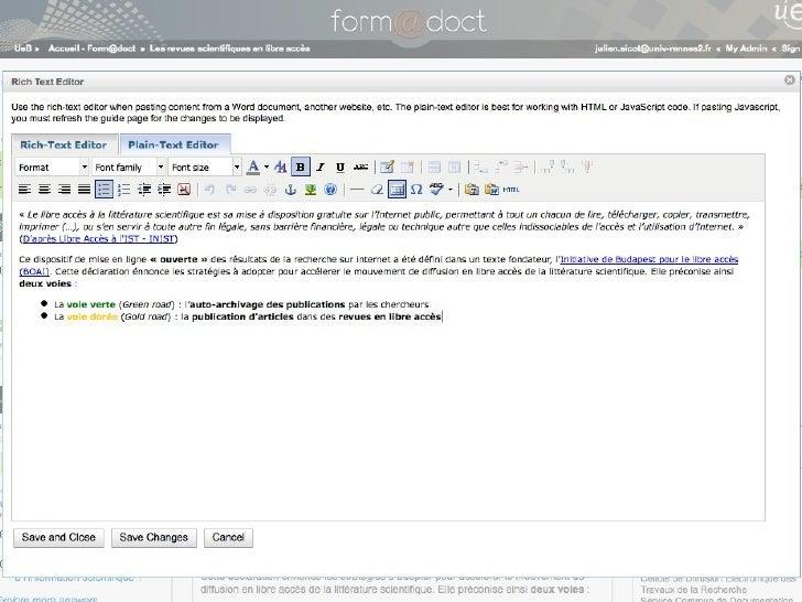 Conformité et intégrat                                        au SI institutionnel   Marciniak P. Nonconformist, 2009. Dis...