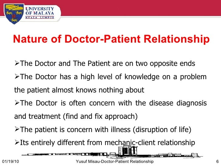 clinician and patient relationship with physician