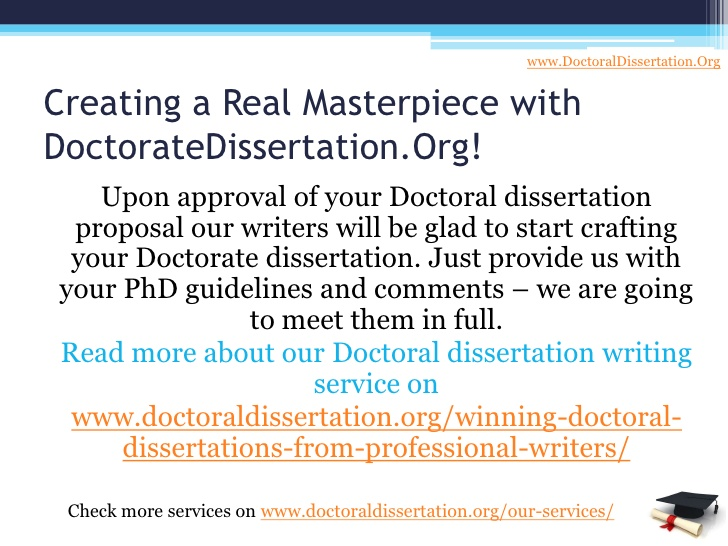 The best custom writing of phd dissertation service