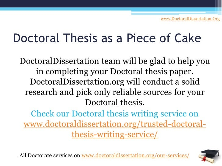 your doctoral dissertation