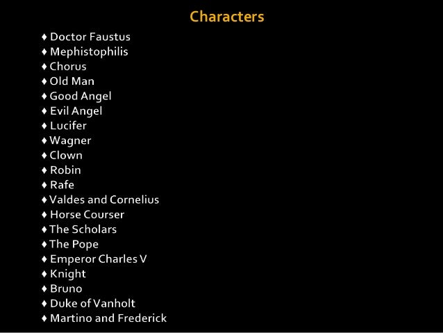 An analysis of the character of faustus by christopher marlow