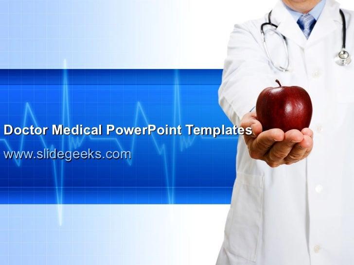 Doctor Medical PowerPoint Templates www.slidegeeks.com