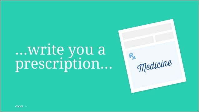 …write you a prescription… !15  M  ne ici ed