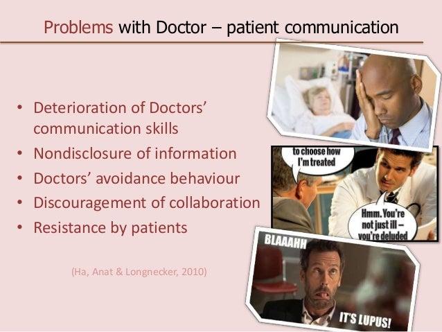 Doctor patient communication dissertation