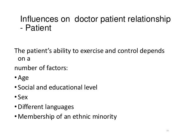 Doctor and patient relationship 2