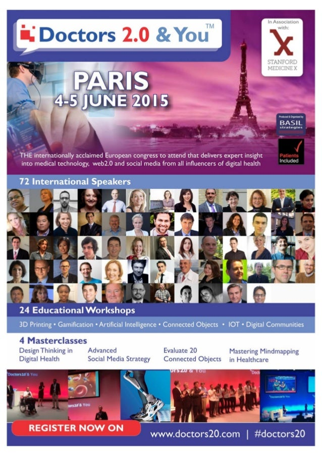In Association with:   'l. ' Doctors 2.0 &YouW  PARIS  L'i'N'E 2or5 --_,   Produced aorgmzea by  BASIL  strategies  THE in...