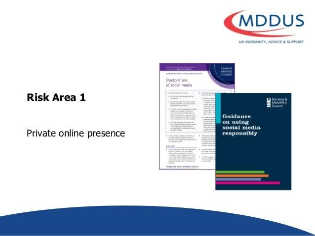Risk Area 1 Private online presence