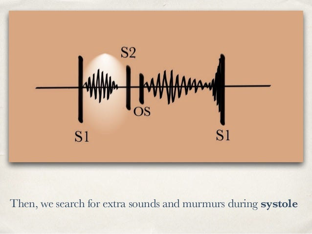 Then, we search for extra sounds and murmurs during systole