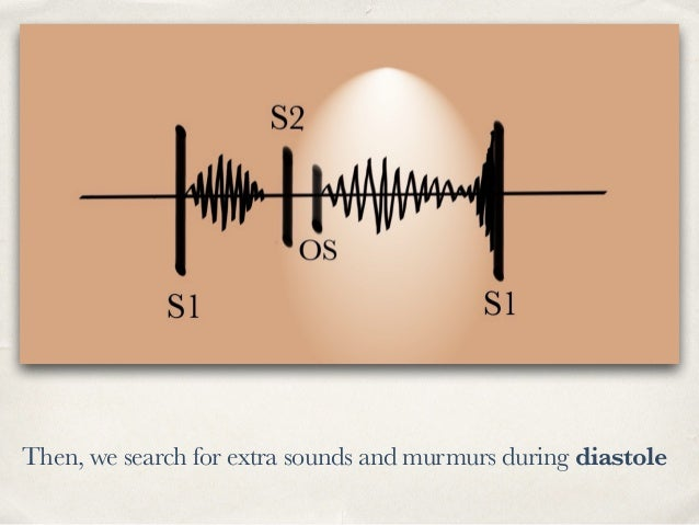 Then, we search for extra sounds and murmurs during diastole