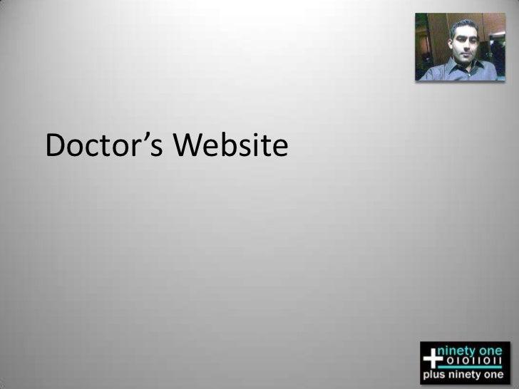 Doctor's Website<br />