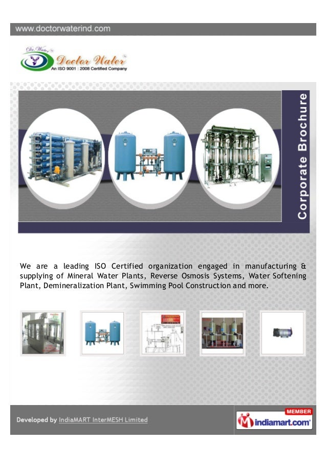 We are a leading ISO Certified organization engaged in manufacturing &supplying of Mineral Water Plants, Reverse Osmosis S...