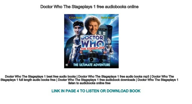 Doctor Who The Stageplays 1 Free Audiobooks Online