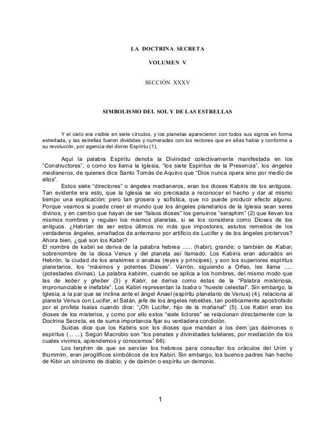 LA DOCTRINA SECRETA VOLUMEN V SECCIÓN XXXV SIMBOLISMO DEL SOL Y DE LAS ESTRELLAS Y el cielo era visible en siete círculos,...