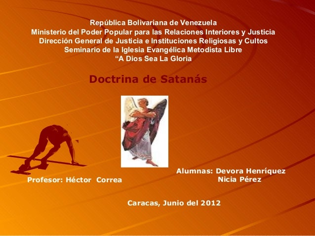 Doctrina de satanas for Ministerio de relaciones interiores