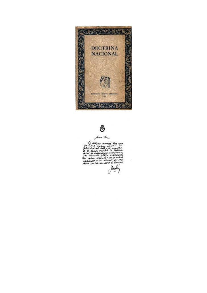 """DOS PALABRAS    La Editorial """"MUNDO PERONISTA"""" se honra publicando la Doctrina Nacional.   Es nuestra Doctrina Peronista e..."""