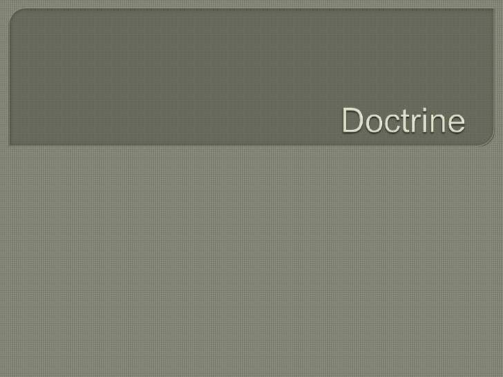 Doctrine<br />